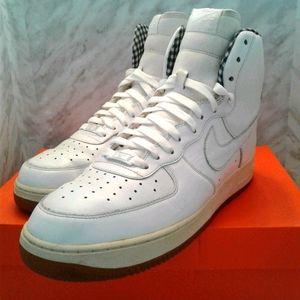 Nike Air Force 1 High '07 Shoes White plaid gum 11